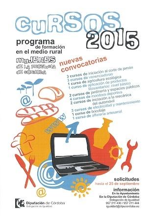 Cartel Programa de Formación Mujeres Córdoba