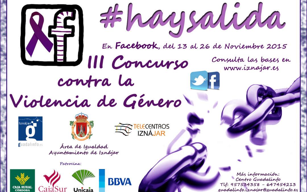 III Concurso contra la violencia de género en las redes sociales 1