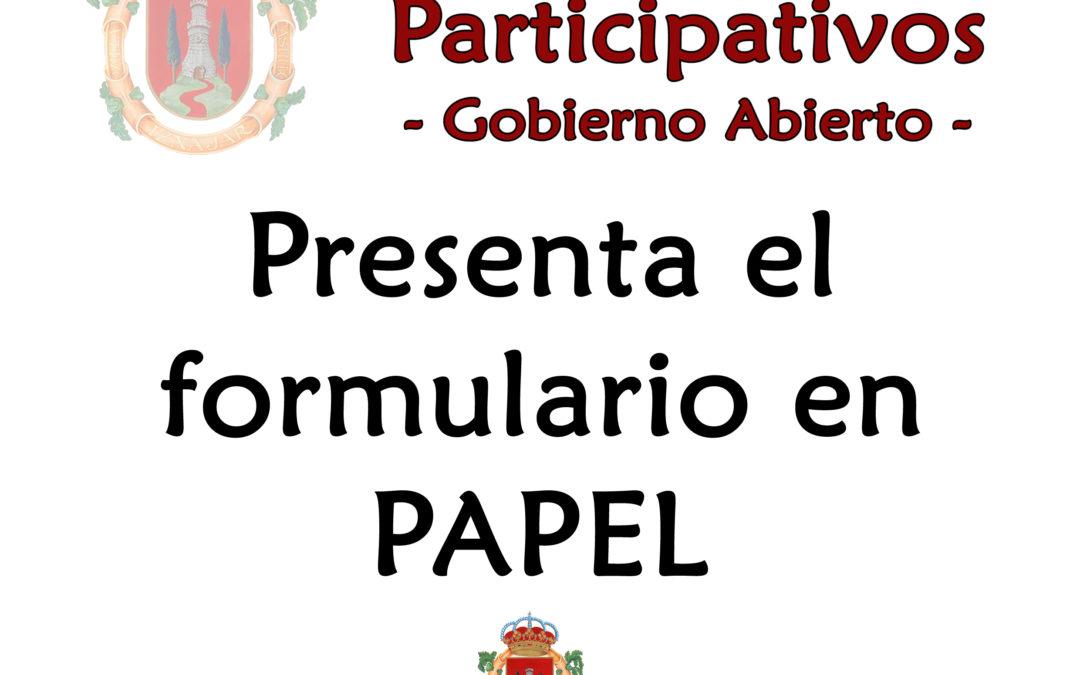 Haznos llegar tu propuesta en papel 1