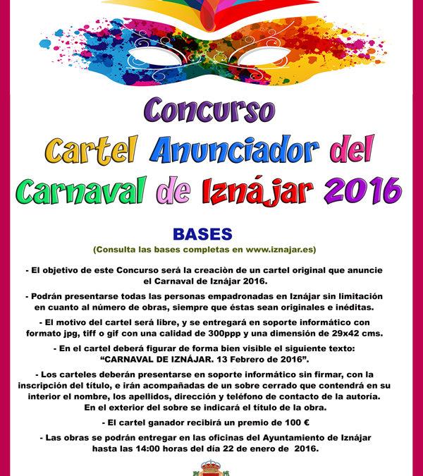 Concurso del Cartel anunciador del Carnaval de Iznájar 2016 1