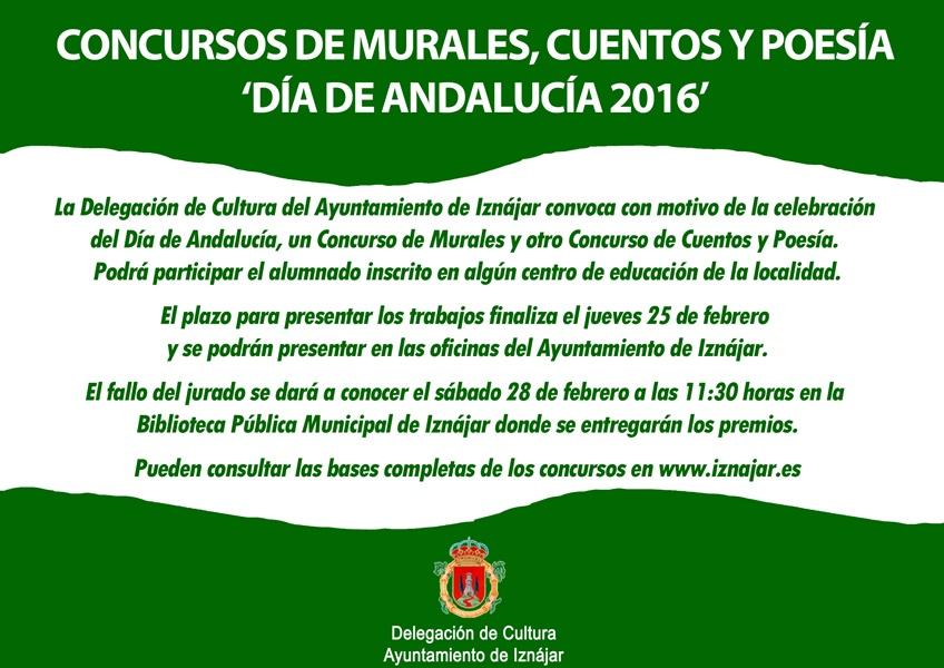 Concursos de Murales, Cuentos y Poesía Día de Andalucía 2016 1