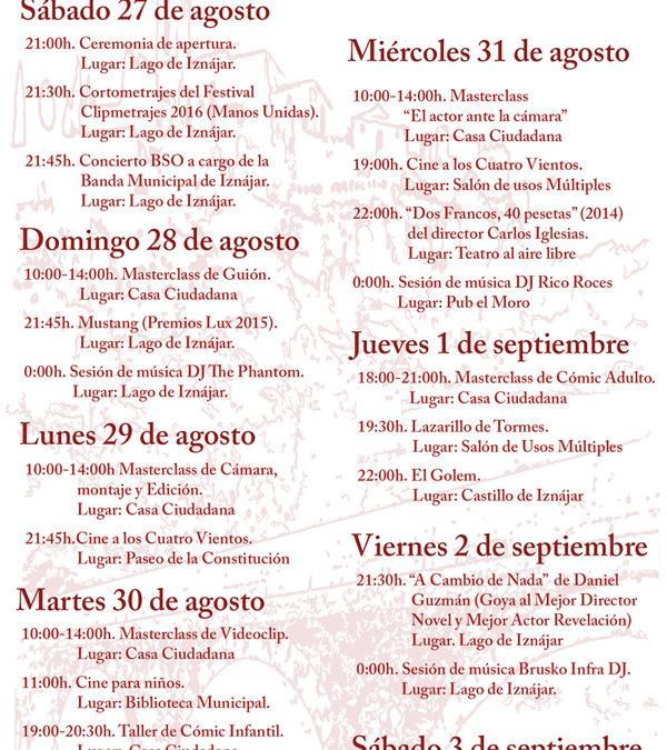 La II Muestra Internacional de Cine del Lago de Iznájar presenta su programación 1