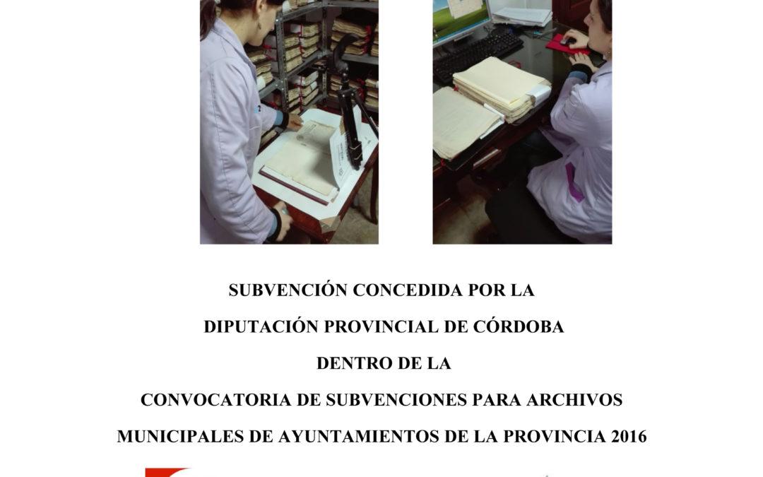 Subvención para Archivos Municipales 1