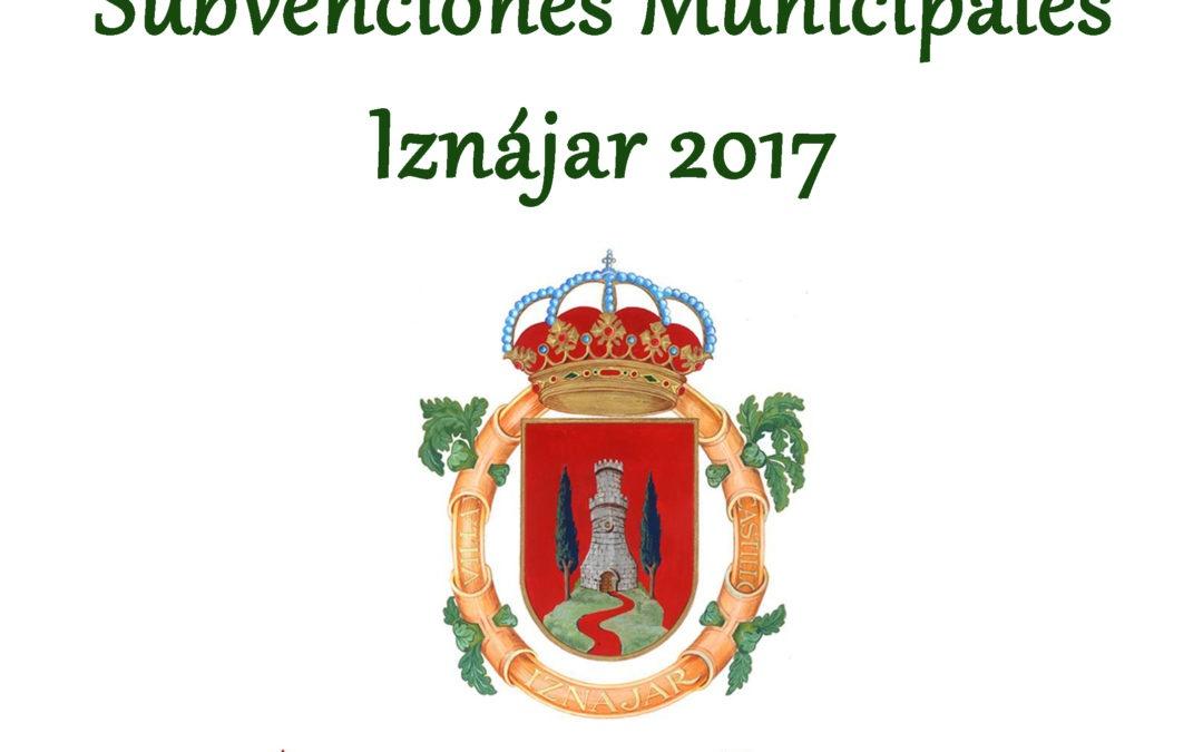Subvenciones municipales 2017 1