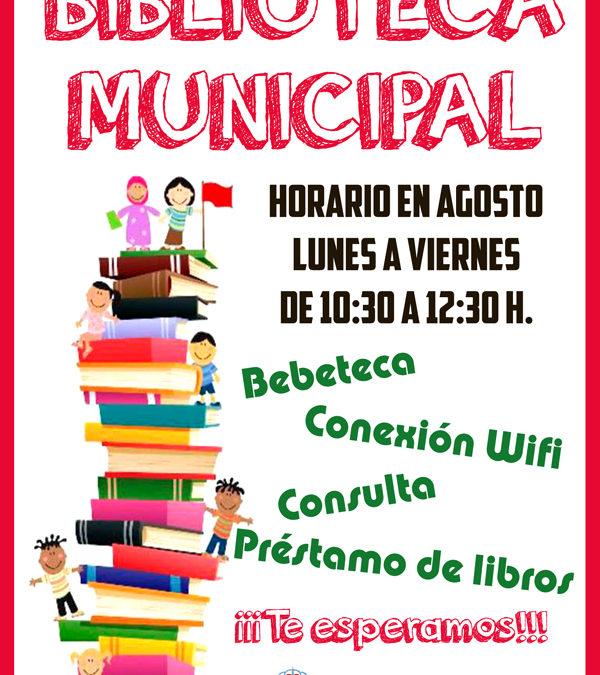 Biblioteca Municipal en agosto 1