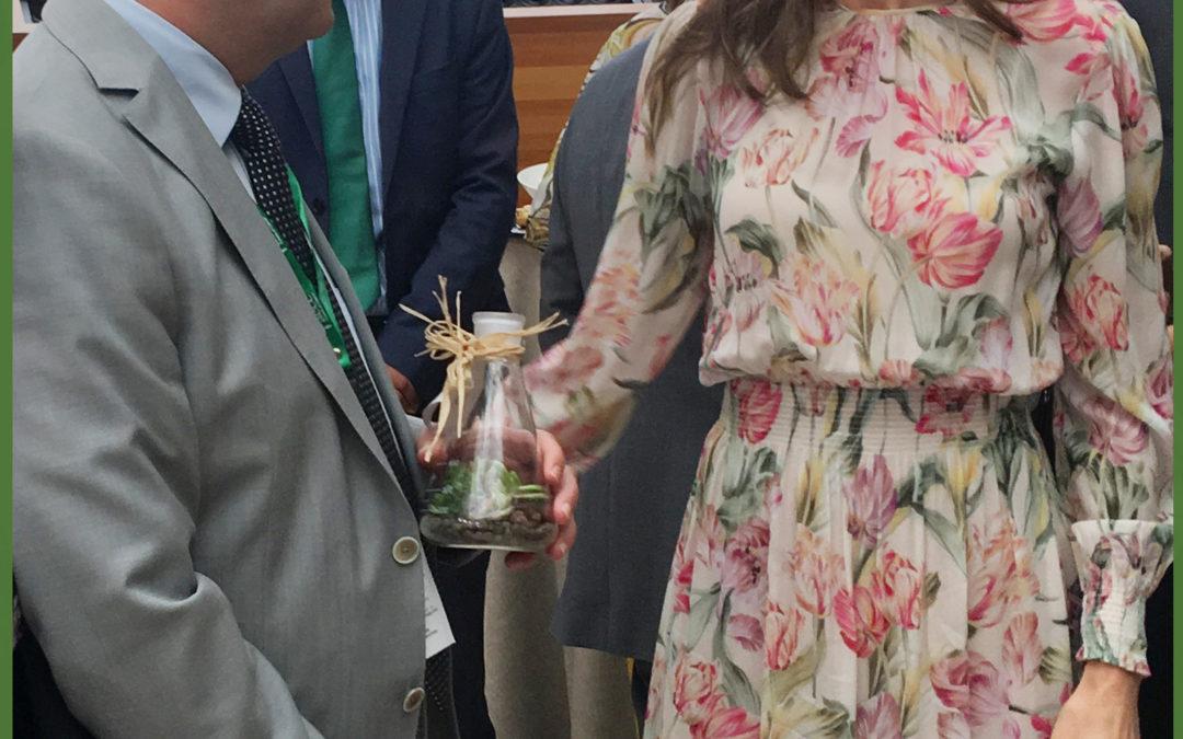 El Dr. Borrego con SM la reina Letizia