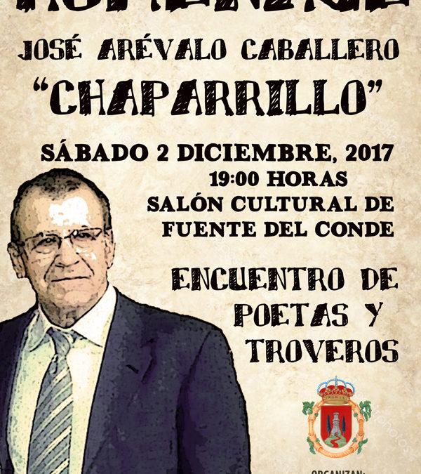 """El Ayuntamiento de Iznájar organiza un homenaje a José Arévalo """"Chaparrillo"""" 1"""