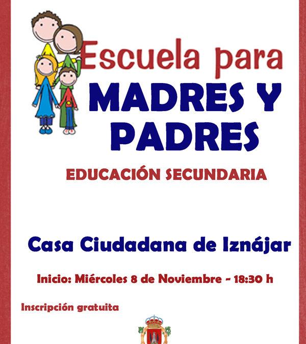 Escuela de Madres y Padres de Secundaria en Iznájar 1