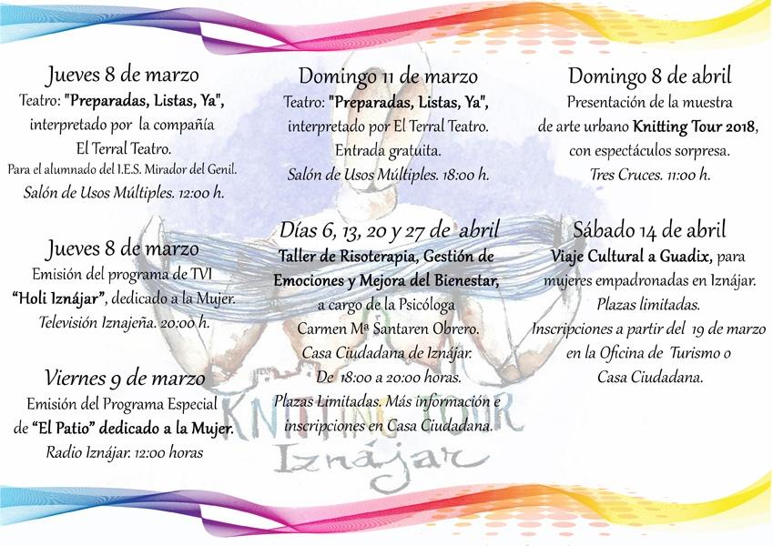 El Ayuntamiento de Iznájar conmemora el Día de la Mujer con un amplio programa de actividades 1