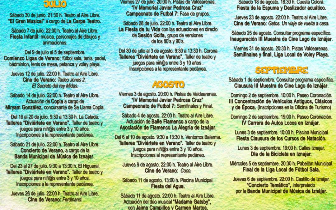 Iznájar programa más de una veintena de actuaciones gratuitas para este verano 1