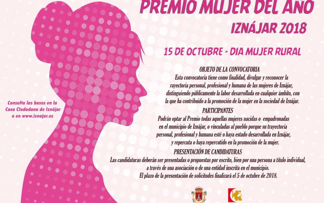 El Ayuntamiento de Iznájar convoca el Premio Mujer del Año 2018 1