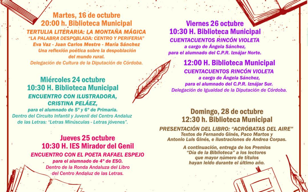 Iznájar celebra durante el mes de octubre el Día de la Biblioteca 1