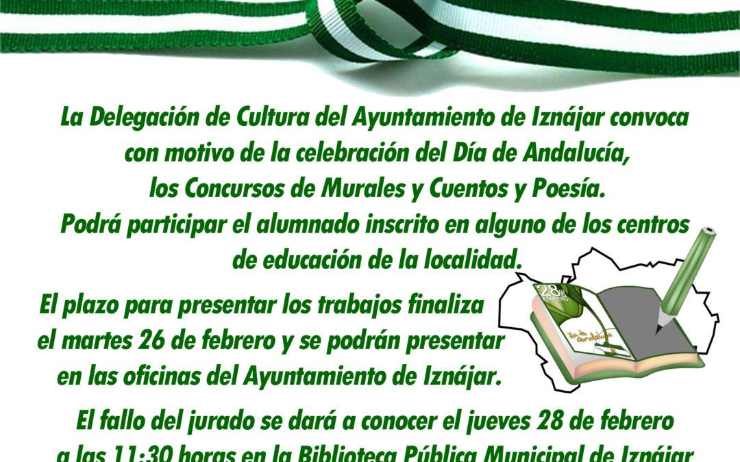 La Delegación de Cultura del Ayuntamiento de Iznájar convoca los Concursos con motivo del Día de Andalucía 1