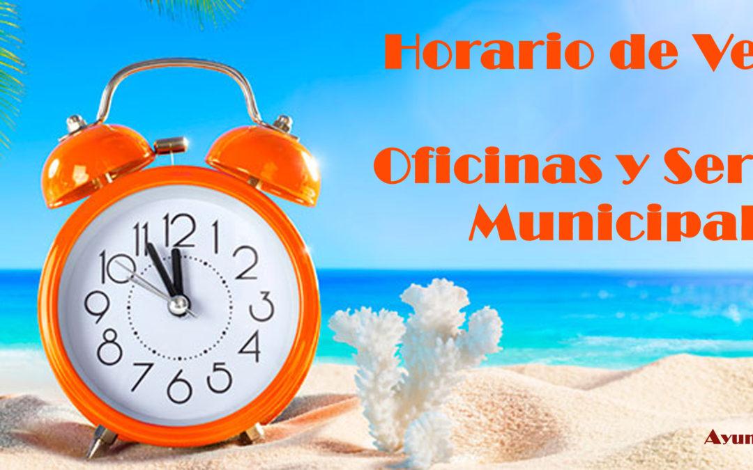 Horario de Verano en Oficinas y Servicios Municipales 1