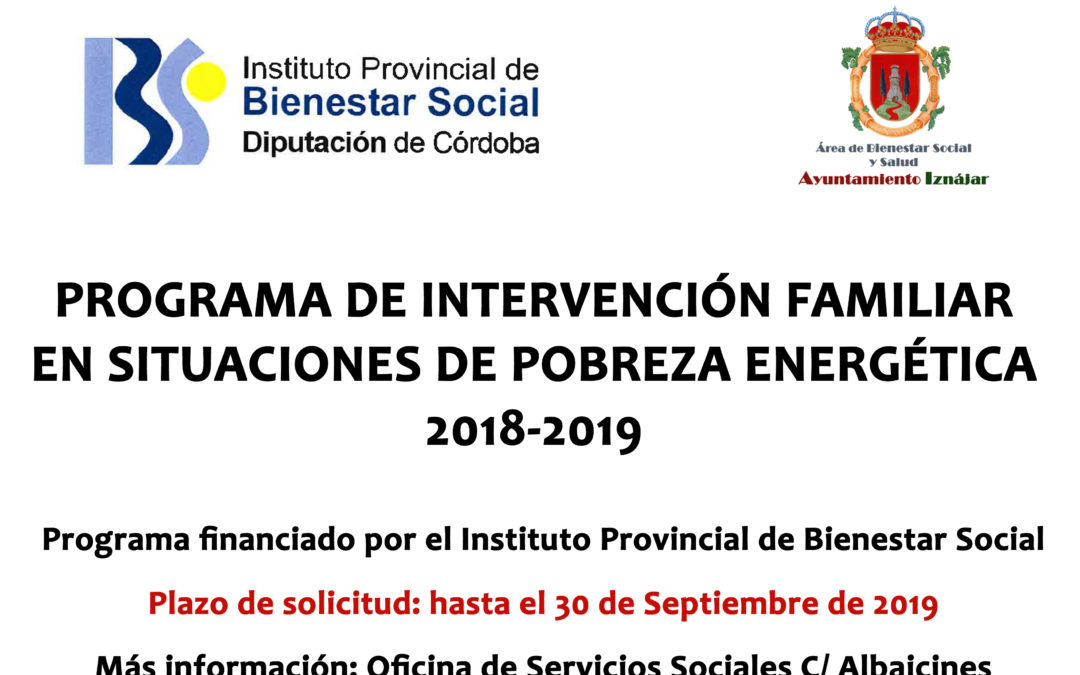 Programa de Intervención Familiar en situaciones de Pobreza Energética 1