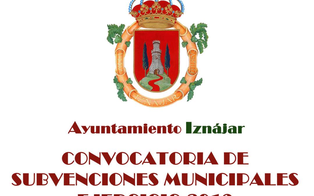 Subvenciones Municipales 2019 1