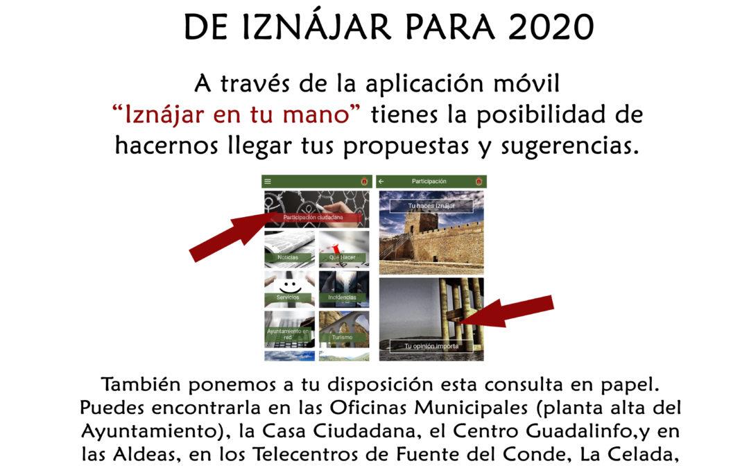 El Ayuntamiento de Iznájar lanza los Presupuesto Participativos 2020 1