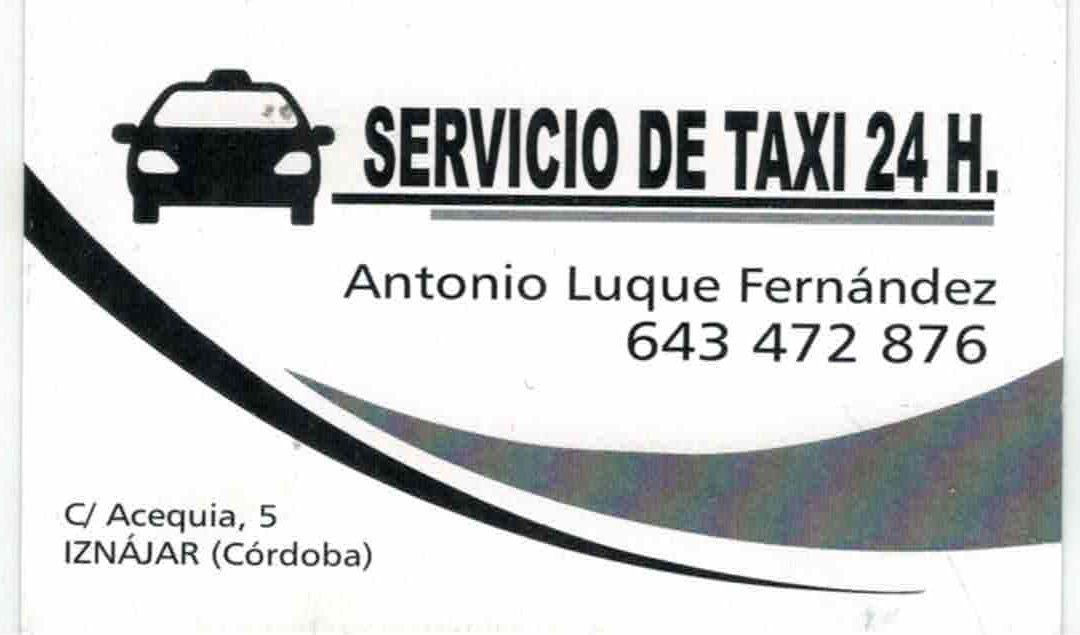 SERVICIO DE TAXI 24 H. EN IZNÁJAR