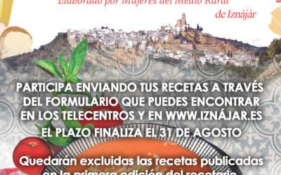 El Ayuntamiento de Iznájar editará el Segundo Recetario de Cocina Saludable de Iznájar