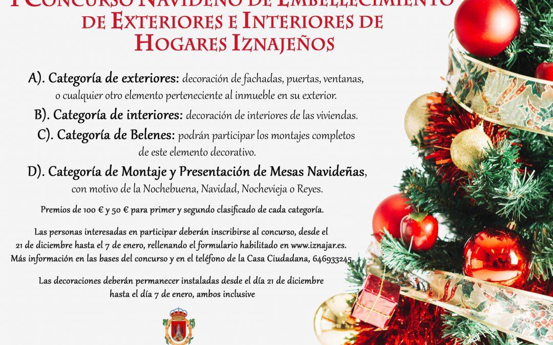 I Concurso Navideño de embellecimiento de exteriores e interiores de hogares iznajeños