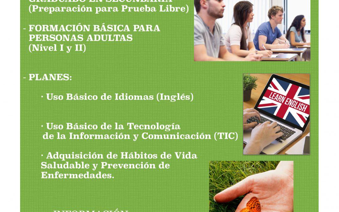 Oferta educativa del Centro de Educación de Adultos de Iznájar