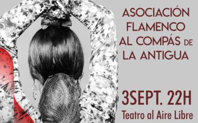 Actuación de baile flamenco a cargo de la Asociación de Flamenco Al Compás de La Antigua.
