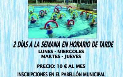 Deportes abre las inscripciones para clases de aquagym en agosto