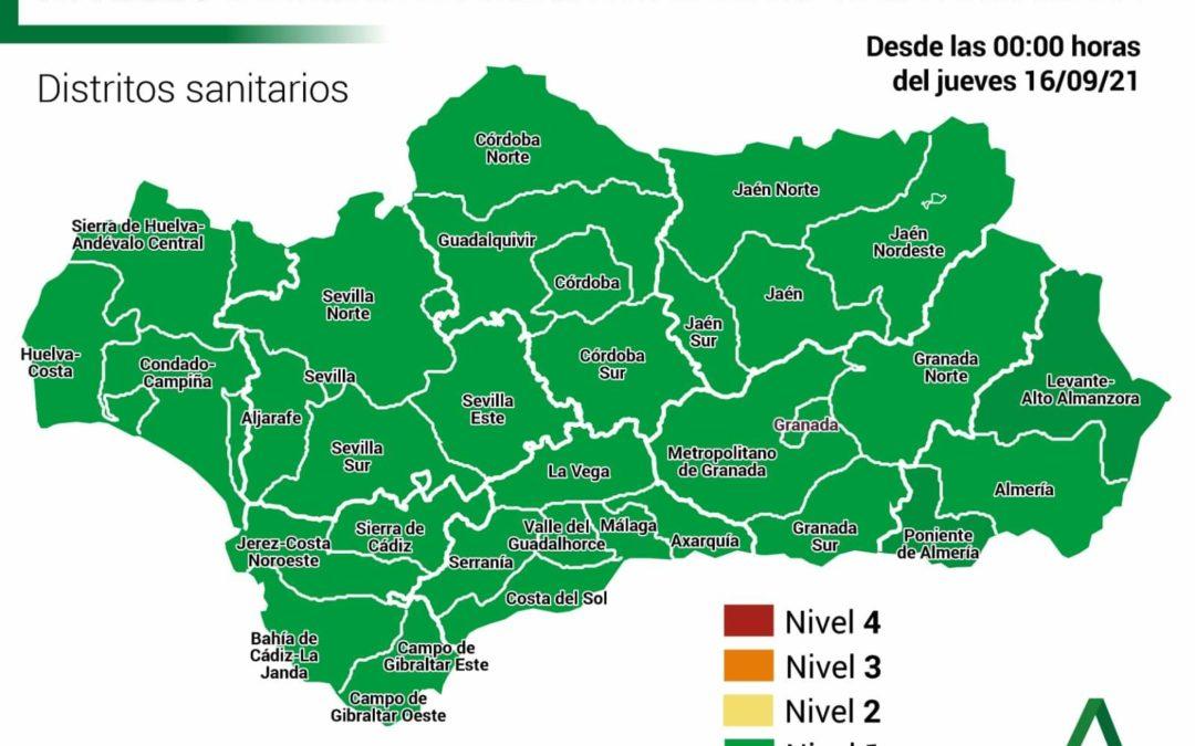 Toda Andalucía en Nivel 1 de Alerta Sanitaria Covid-19